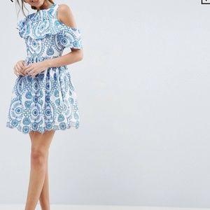 ASOS Dresses - ASOS premium Sleeveless Ruffle Skater Dress